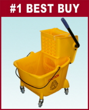 Bucket w/ Side Press Wringer Yellow 22 QT