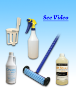 EZ Carpet Spot Cleaning KIT with special carpet brush