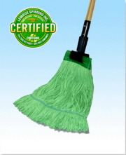 Earthkleen Wide Band Mop Medium Cotton / Synthetic Green