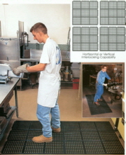 Snap Tile Kitchen Ware Mat 36' x 36'